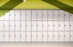 Lockers. And a green background Royalty Free Stock Photo