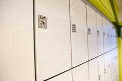 Lockers Royalty Free Stock Photo