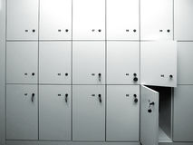 Lockers Royalty Free Stock Photography