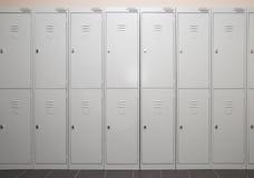 Lockers. Row of stark metal lockers Stock Image