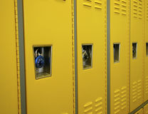 Lockers. Yellow Lockers Royalty Free Stock Photos