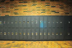 Lockers. Abstract background of lockers in university Stock Image