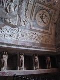 Lockers in Bath House at Pompeii Stock Image