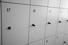 Lockers cabinets Stock Photo