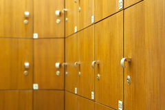 Lockers in Changing Room Royalty Free Stock Photos