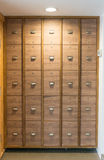 Lockers in changing room Royalty Free Stock Images