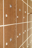 Lockers in a cloak-room Stock Photos