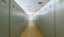 Lockers in a dressing room Stock Photo