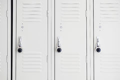 Lockers in gym. Close up on lockers in gym Royalty Free Stock Images