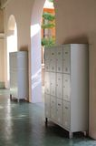 Lockers in hallway Royalty Free Stock Images