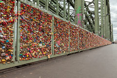 Lockers on the Hohenzollern Bridge in Cologne Royalty Free Stock Photo