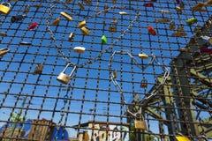 Lockers at the  Hohenzollern bridge Stock Photo