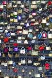 Lockers at the  Hohenzollern bridge symbolize love Royalty Free Stock Image