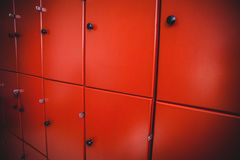 Lockers in locker room Stock Photography