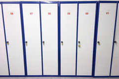 Lockers numbered Stock Photography