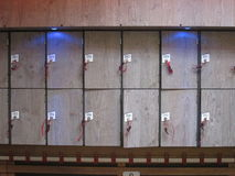 Lockers with numbers Royalty Free Stock Image