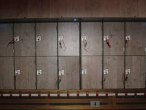 Lockers with numbers Royalty Free Stock Photography