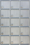 Lockers or post box or mail boxes postal Stock Photos