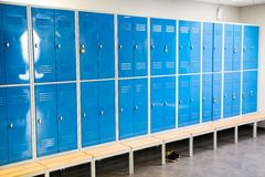 Lockers in the room Royalty Free Stock Images
