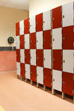 Lockers in toilet Royalty Free Stock Photos