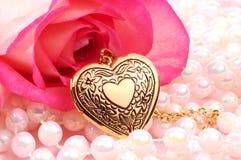 locket сердца Стоковые Фото