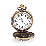 Locket clock isolated Royalty Free Stock Photography