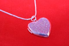 Locket de las tarjetas del día de San Valentín Fotografía de archivo libre de regalías