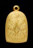 Locket dell'amuleto del Buddha dell'oro Fotografie Stock Libere da Diritti