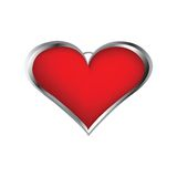 Locket a forma di del cuore Fotografia Stock
