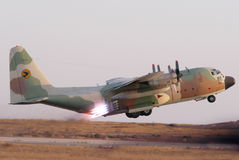 Lockhead γ-130 Hercules Στοκ φωτογραφίες με δικαίωμα ελεύθερης χρήσης