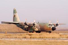 Lockhead C-130 Hercules. BEERSHEBA-JUNE 28:  Lockhead C-130 Hercules is landing in Hatzerim Air Force base near Beersheba, Israel on June 28, 2007.It's the only Royalty Free Stock Images