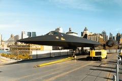 Lockheed α-12 κότσυφας στην απτόητη γέφυρα πτήσης μουσείων Στοκ Εικόνες