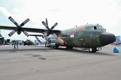 C130 military transporter Stock Image