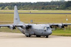 Lockheed C-130 Hercules flygplan Royaltyfri Foto