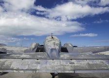 Lockheed Electra припарковал стоковые изображения
