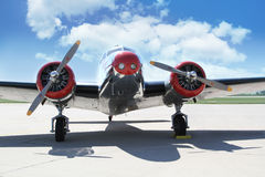 Lockheed Electra 10A. PARDUBICE, CZECH REPUBLIC - 6 June 2015: Lockheed Electra 10A aircraf in aviation fair and century air combats, Pardubice, Czech Republic Royalty Free Stock Images