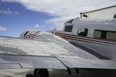 Lockheed Electra Parked Royalty-vrije Stock Afbeelding