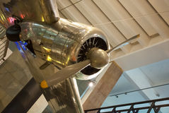 1935 Lockheed 10A Electra.Science Museum in London. 1935 Lockheed 10A Electra.Old plane exposed in the museum of science.Londons Science Museum is located in Stock Photos