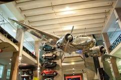 Lockheed 1935 10A Electra Vetenskapsmuseum i London Royaltyfri Foto