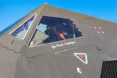 Lockheed F-117 Nighthawk på den Barksdale flygbasen Arkivbild