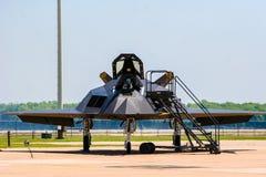 Lockheed F-117 Nighthawk på den Barksdale flygbasen Arkivfoto