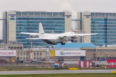 Lockheed Martin C-130J-30 Геркулес Авиапорт Pulkovo, Россия, Санкт-Петербург, 30-ое апреля 2018 Стоковое фото RF