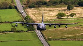 Lockheed Martin C-130J Hercules super fotografia de stock royalty free