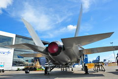 Lockheed Martin F-35 Lightning II stealth multi-role joint strike fighter on display at Singapore Airshow 2012 Stock Images