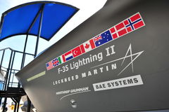 Lockheed Martin F-35 Lightning multi-role joint strike fighter at Singapore Airshow 2012 Royalty Free Stock Images