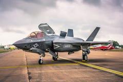 Lockheed Martin F-35 blixt II på en Airshow i UK Fotografering för Bildbyråer