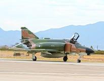 Lockheed Martin F-4 Phantom II fighter jet USAF. Taxiing F-4 Phantom II retired Vietnam era jet stock photography