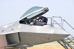 Lockheed Martin F-22 ptaka drapieżnego Taktyczny myśliwiec Obraz Royalty Free