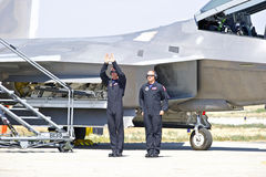 Lockheed Martin F-22 ptaka drapieżnego Taktyczny myśliwiec Fotografia Royalty Free