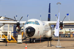Lockheed Martin LM-100J. A civilian derivative of the C-130J Hercules, at the 2017 Paris Air Show, le Bourget Stock Image